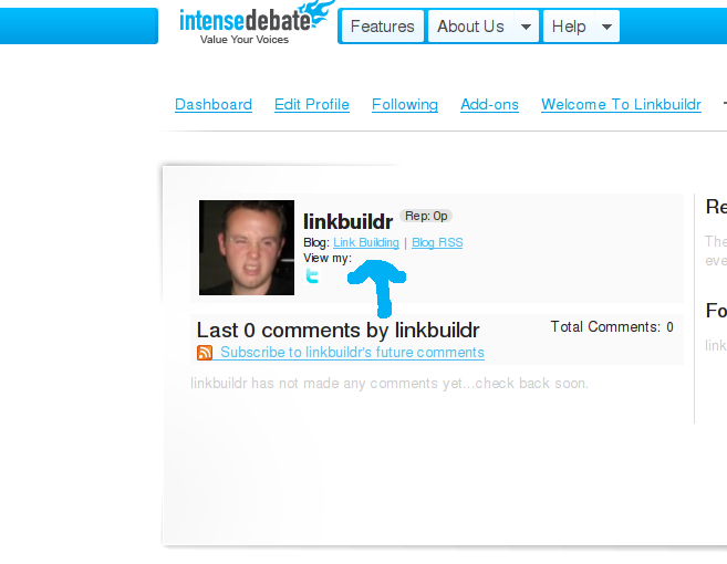 intensedebpage Link Building With IntenseDebate.com