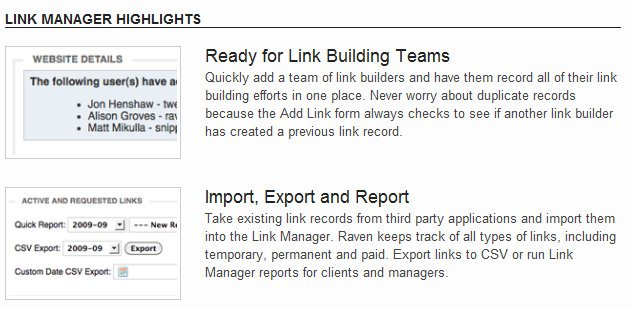 link building tools Link Building Management With Raven SEO