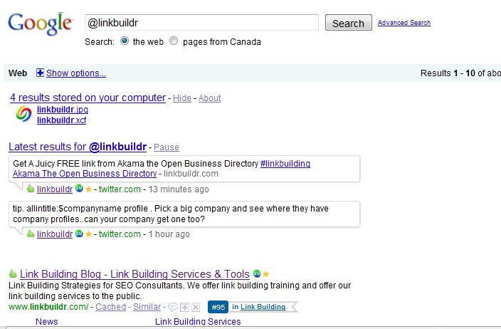 twitter google serps1 Twitter Showing In Google Search Results