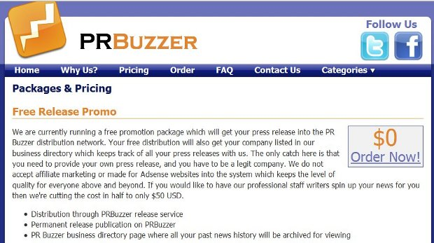 prbuzzer free Submit A Free Press Release on PR Buzzer