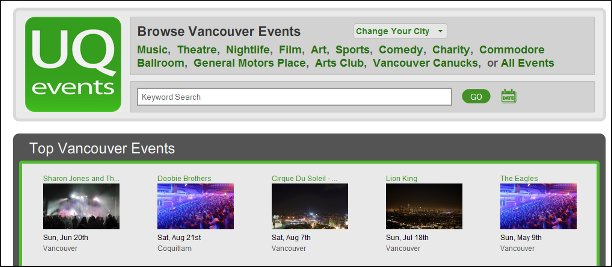 uqevents.com logo Link Building With Event Websites