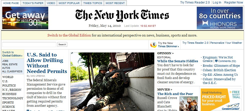 new york times New York Times Online Paid Experiment: Lets Watch