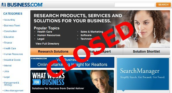 business com directory Business.com Directory Closing Down