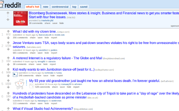 reddit Screenshot 3 Places To Launch Your Link Bait