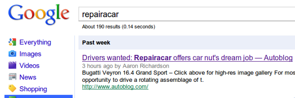 repairacar dream job Repairacars Dream Job Is Awesome Link Bait