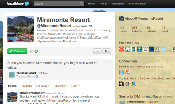 miramonte resort twitter Miramonte Resort Social Branding: Luxury Resorts Take Note 