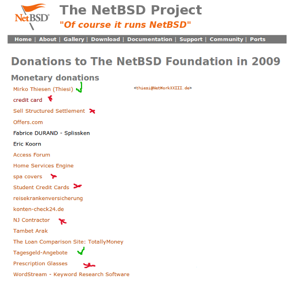 netbsd donations Donations As A Link Building Tactic? Be Careful