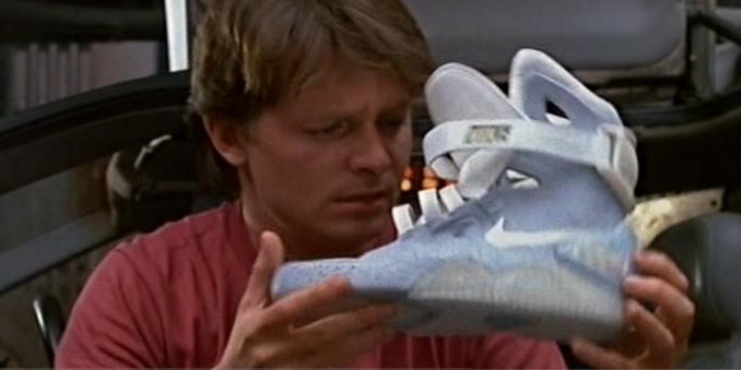 Marty McFly sneakers Marty McFlys Nike sneakers have finally come Back From the Future 