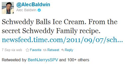 alec baldwin tweet Alec Baldwins Schweddy Balls A Viral Hit