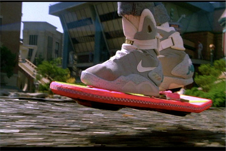 hoverboard Marty McFly's Nike sneakers have finally come Back From the Future