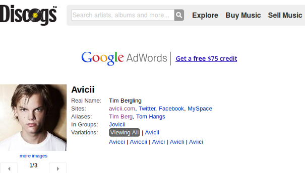 discogs avicii Building Your Band Brand In A Social World