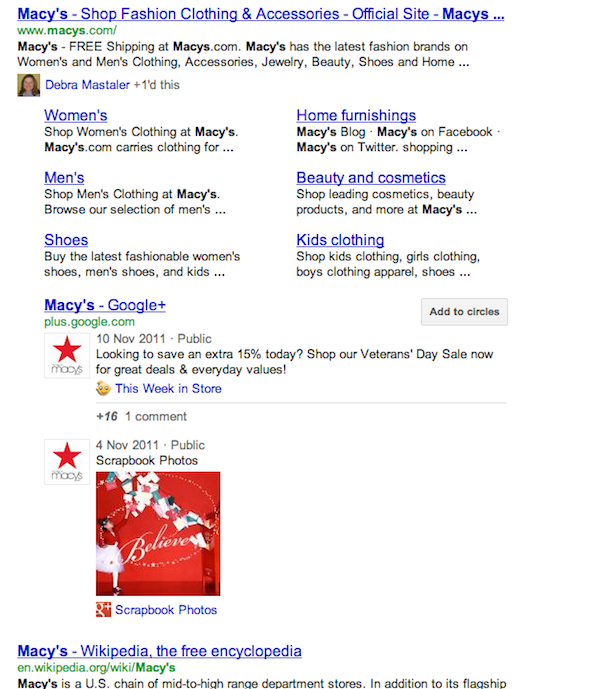 google+ brand pages ranking Google+ Brand Pages Ranking In Google