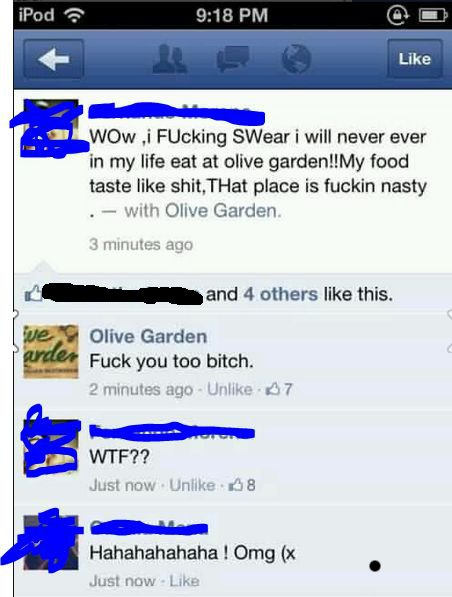 olive garden doesnt fuck around Olive Garden Doesnt F#$@ Around