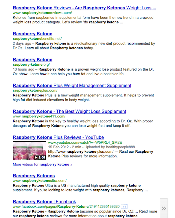 rasperry ketone Raspberry Ketones Diet Recommended By Dr Oz Starts A Spam War