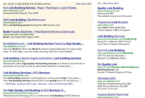 high quality link building service serps Google & Link Building Services