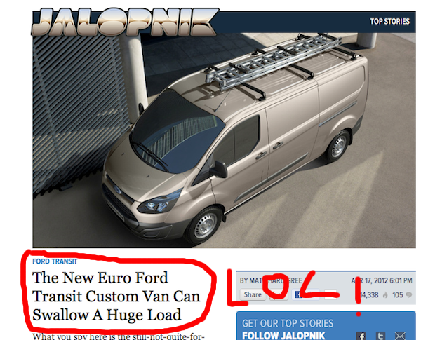 link bait titles Link Bait Title WIN Via Jalopnik