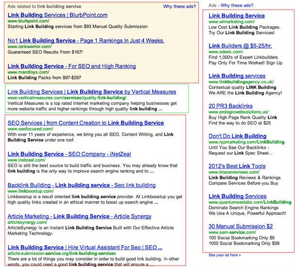 link building services serps Google & Link Building Services