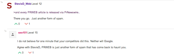 pwrweb link building spam PRWeb Called A Link Scheme & Spam On GWC