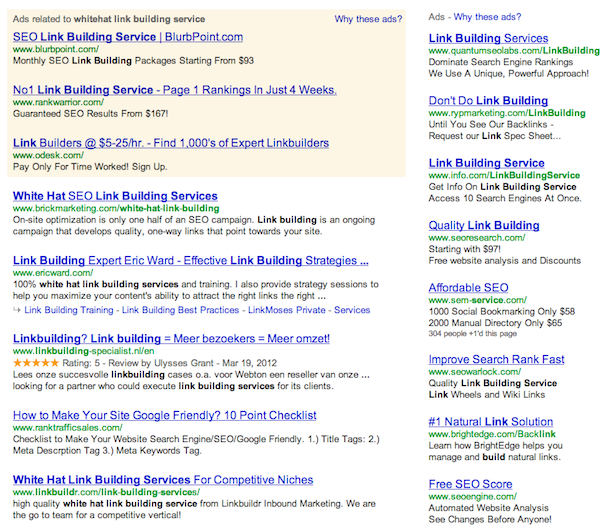 whitehat link building service Google & Link Building Services