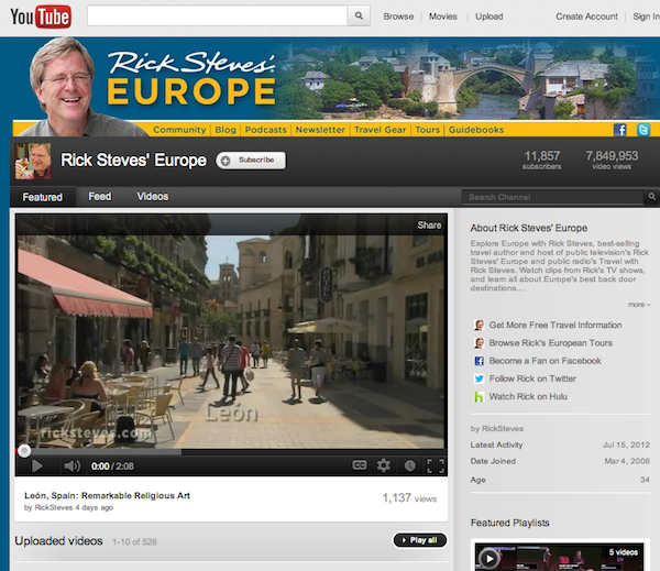 rick steves youtube Rick Steves and How To Correctly Build a Brand