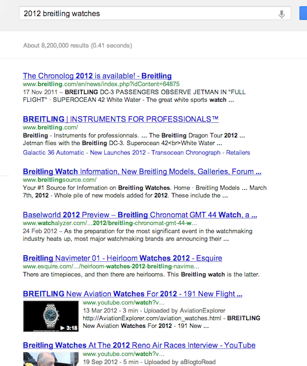 breitling watches 2012 Linking For More Powerful Social Media Profiles