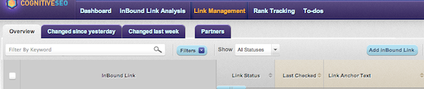 cognitiveseo link management CognitiveSEO Gets Put To Work At Linkbuildr