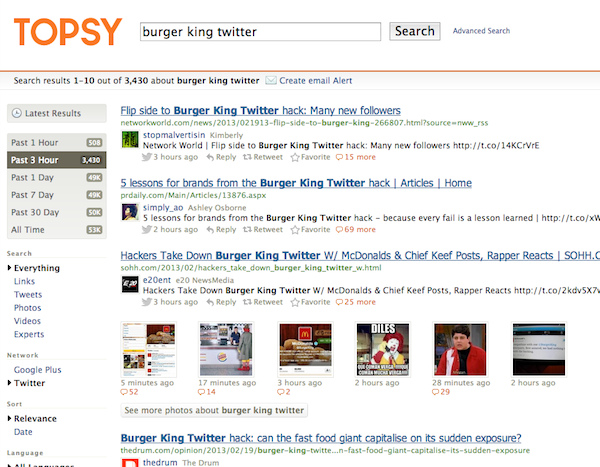 burger king hacked twitter Burger Kings Twitter Hacked = Link Bait Goldmine