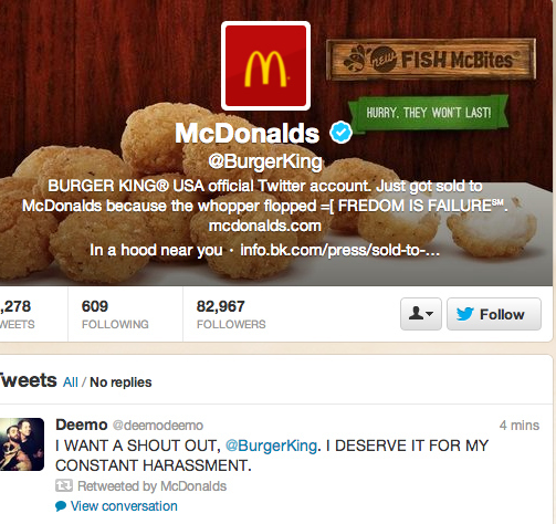 burger king twitter hack Burger Kings Twitter Hacked = Link Bait Goldmine